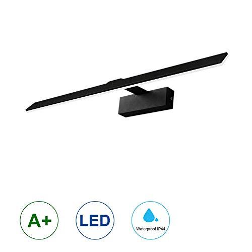 Klighten LED Badleuchte,18W 90 LEDs Spiegellampe Spiegelleuchte,Warmweiß,Aluminium Badlampe,Schranklampe Aufbauleuchte,530mm,Schwarz