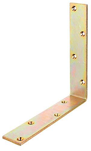 GAH-Alberts 333607 Balkenwinkel | gleichschenklig | galvanisch gelb verzinkt | 200 x 200 x 40 mm