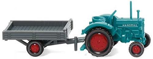 Hanomag Wiking 095304 R 16 mit Anhänger wasserblau/grau - Miniaturmodell 1:160 (N)