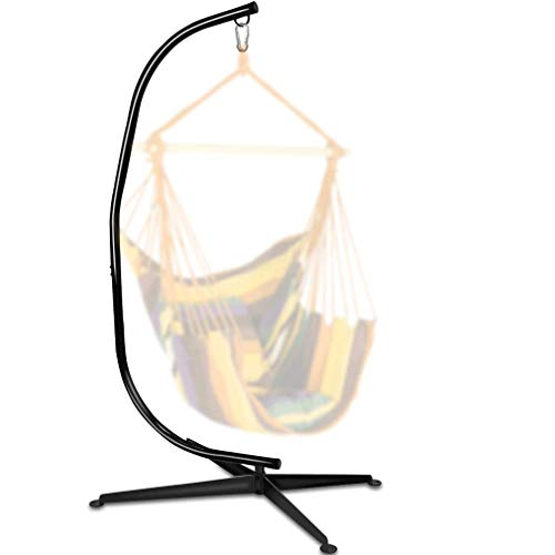 Hammock Stand, Hanging Hammock Chair Stand C Stand Outdoor Indoor Solid Steel Heavy Duty Stand Only Construction for Hanging Hammock Air Porch Swing Chair, 330Lbs Capacity