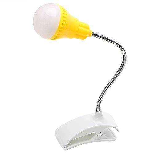LED Schreibtischlampe Nachttisch Computerlicht Aufsteckbare tragbare Lesebirne Augenschutzbuch Leselampe für Schüler