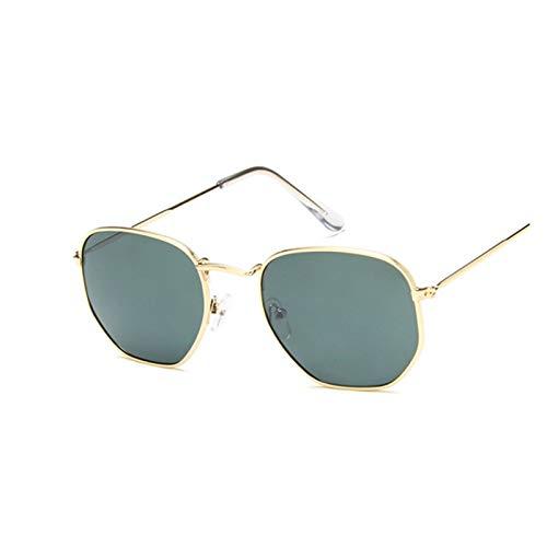 ZZDH Gafas de Sol Gafas de Sol Mujeres Retro Gafas de Sol Vintage Gafas de Sol Negras Regalo para Madres (Lenses Color : Gold Deepgreen)