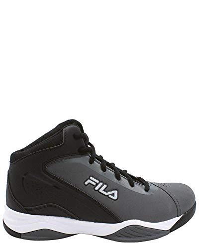 Fila Men's Contingent Basketball Shoe, Castlerock/Black/Metallic Silver, 10.5 M US