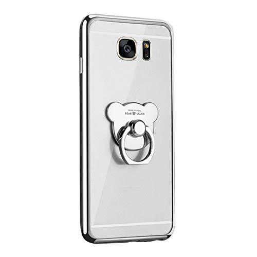 Qpolly - Carcasa de silicona transparente para Samsung Galaxy S7 Edge con...