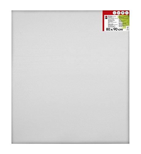 Marabu 1616000000801 - Keilrahmen, ca. 80 x 90 cm, Rahmentiefe ca. 1,8 cm, weiß, mit 380 g/qm Baumwolle bespannt, 3 fach grundiert, leicht saugend, für Acryl-, Öl-, Gouache- und Temperafarben