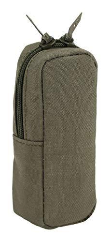 Zentauron Pico Mehrzwecktasche MOLLE Steingrau-Oliv Standard I Vertikale Zubehörtasche aus hochwertigem Cordura I multifunktionale Tasche 4 x 12 x 4 cm I Kleine Taktische Tasche wasserdicht