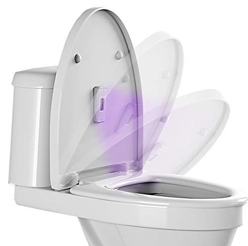 Limpiador de inodoro con luz UV desinfectante – Limpiador de basura de cocina, montado en la tapa o estantes, portátil, recargable, desinfección de luz ultravioleta para el hogar y viajes
