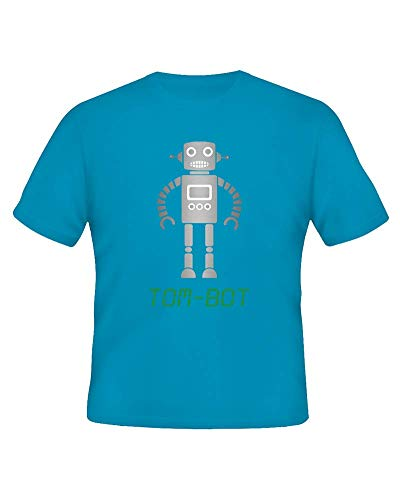 Ice-Tees Kid-BOT T-shirt personnalisable pour bébé/enfant - Turquoise - 2-3 ans
