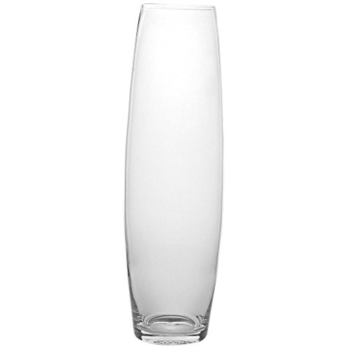 Vase XXL Deko Blumenvase Famous Sam D 15 cm H 50 cm Hochwertiges Glas Moderner Zeitloser Style Tischvase