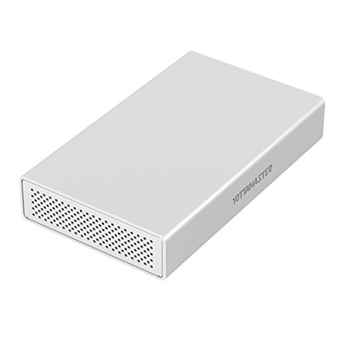 Yottamaster 3.5インチ Type-c ハードディスク ケース UASP高速 ドライブ けーす 10TBまで sata3.0 USB3.1 5Gbps 高放熱性アルミ 電源アダプター付き シングル 銀色 PS100シリーズ PS100C3