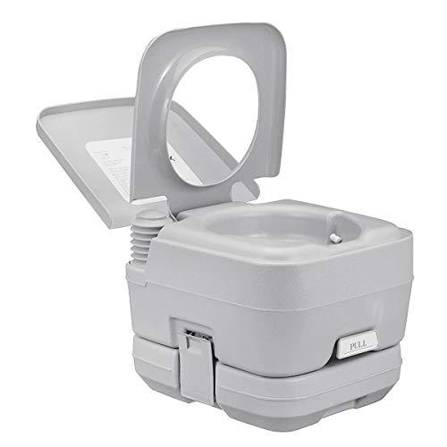 CWWHY Tragbare Camping-Toilette, Abnehmbare Reisetoilette Für WC Im Innenbereich Camping-Toilette Töpfchen Kommode 20L 330LBS Gewicht, Für Ältere Schwangere Frauentoilette,20L