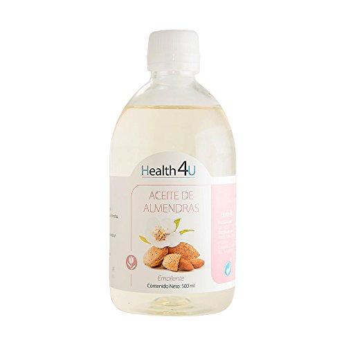Health4U Aceite De Almendras Dulces - 100% Puro, Natural, Prensado En Frío Equilibra La Piel, Hidrata Cabello, Cuerpo Y Uñas Aceite Esencial Para Masajes Bote, 500 Mililitro