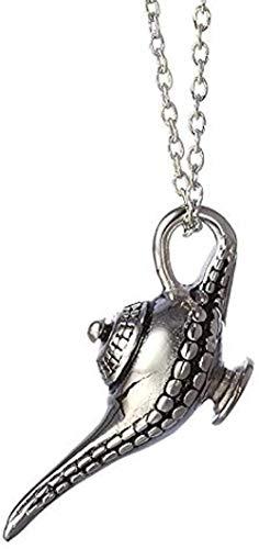 BACKZY MXJP Collar 4 5 * 2 Cm Personalidad Aladino Lámpara Mágica Colgante Collar Cuento De Hadas Collar Moda Hombres Y Mujeres Joyería Regalo