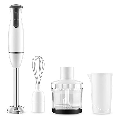 Kitchen Whisk Hand Blender 450W 2nd Gear Speed Control Hand Blender Set Immersion Blender with Hand Mixer, Chopper, Whisk, Beaker Attachment for Soup Sauce Baby Food Purée and Emulsify Whisk/Whisking
