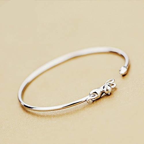 925 Sterling Silber Koreanischen Stil Süße Katze Kreative Armbänder Armreifen Schmuck Verstellbar Für Frauen Hochzeitspaar