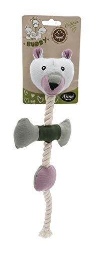 AIME - Juguete ecológico de Peluche para Atar, Tejido de algodón orgánico, Cuerda para Perro, diámetro 36 cm