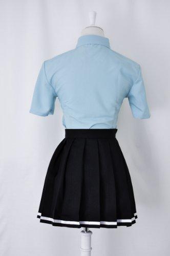 『黒子のバスケ 桃井 さつき 帝光中学 制服 (青シャツ) コスプレ 衣装 Mサイズ 【c45M】』の7枚目の画像