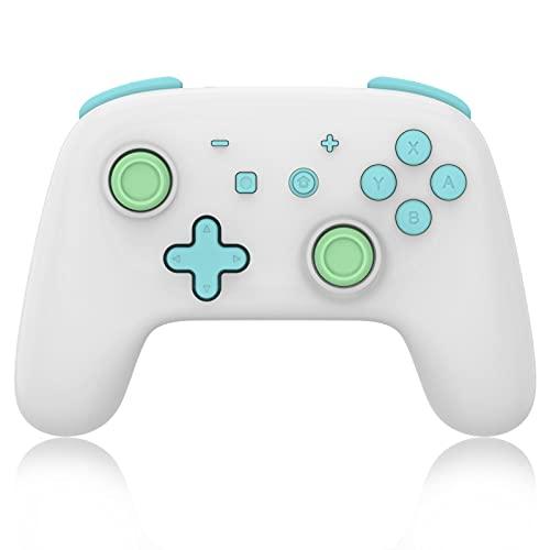 KOPOU Consola de mando de juego inalámbrico,Joystick inalámbrico Bluetooth Gamepad,Joystick de juegos para profesional,Joypad remoto con vibración de choque dual