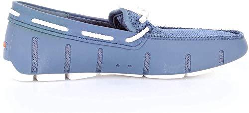 SWIMS Braided Lace Loafer, Mocasines Hombre, Pizarra Azul Blanco 599, 43 EU