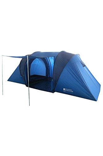 Mountain Warehouse Tenda per 4 Venus - TeloResistente all'Acqua, Tenda da Campeggio con Cuciture Nastrate, Robusta Tenda per Famiglie, Telo da Terreno, Protezione in Tessuto Blu