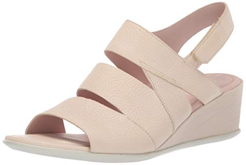 ECCO Shape 35 Wedge Sandal, Scarpe col Tacco Punta Aperta Donna, (Vanilla 1281), 36 EU
