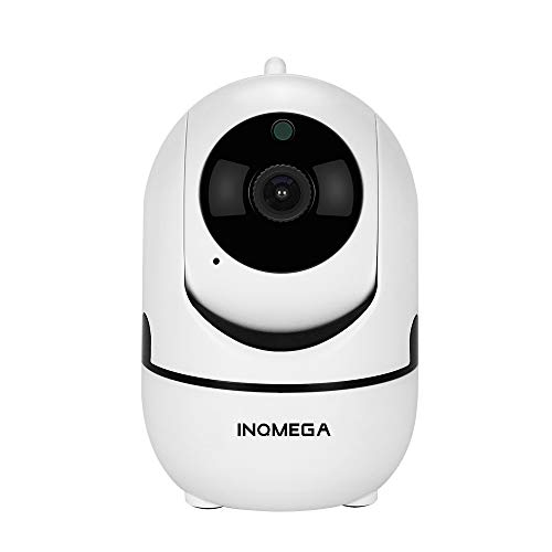 INQMEGA FHD 1080P WiFi Home IP Camera, Indoor Pan/Tilt 2.4Ghz Wireless Security Camera,Nanny cam with Auto Tracking, Cloud Service, Night Vision, Two Way Audio for Baby/Elder/Pet (White)