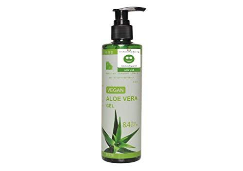 Aloe Vera Gel 100% organico e vegano 250ml, per pelle secca, abbronzata ed irritata, e per i capelli - Qualità Premium - Aloe Plus di Secret Essentials