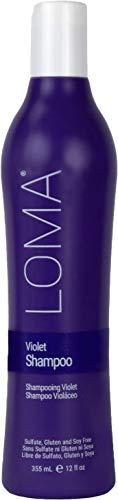 Loma Hair Care Violet Shampoo, Vanilla Bean/Blood Orange, 12 Fl Oz