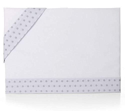 Bolin Bolon 1621244319500 - Juego de sábanas para cuna alegre, blanco/gris estrellas, 77 x 50 cm