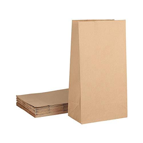 Stiesy 20 bolsas de papel pequeñas sin asa, bolsas de papel para alimentos, bolsas de papel, bolsas de papel kraft, bolsas de reciclaje para bodas, fiestas de cumpleaños