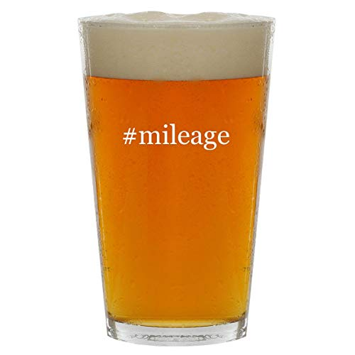 #mileage - 16oz Hashtag Clear Glass Beer Pint Glass