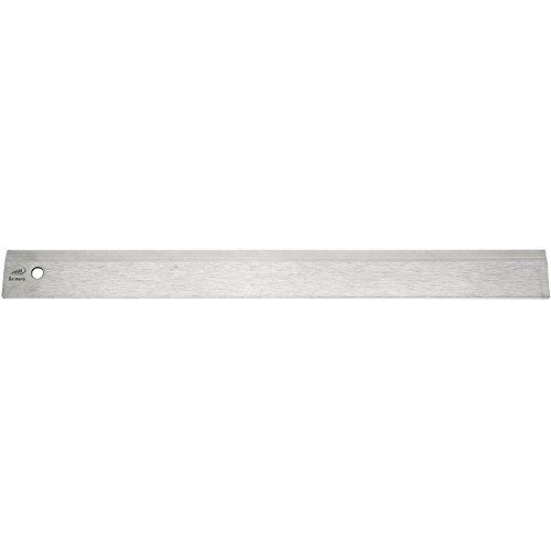Helios Preisser 454434 Stahllineal mattverchromt mit Fase Länge 1000 mm