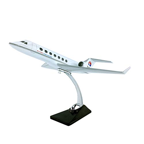 EP-Model Aereo di Linea Aviation Modello, Gulfstream G550 Jet Privato Modello con Il Basamento, Adulti Giocattoli E Collezionismo, 11.8Inch