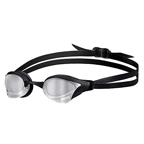 ARENA Gafas Cobra Core Swipe Mirror Natación, Unisex Adulto, Silver/Black, Talla Única