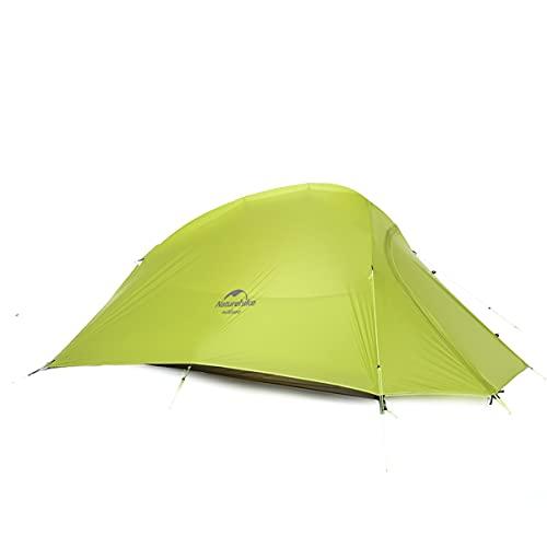Naturehike Tienda de Campaña Mejorar Cloud Up 2 Persona Tienda de Trekking Ultraligero Impermeable (20D Verde Claro Estándar)