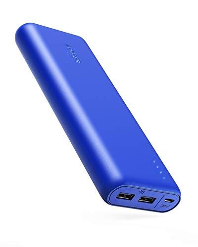 Anker PowerCore 20100 (20100mAh 2ポート 超大容量 モバイルバッテリー) 【PSE技術基準適合/PowerIQ搭載/マット仕上げ】iPhone&Android対応 (ブルー)