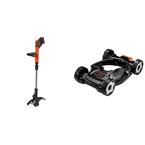 BLACK+DECKER 20V MAX 2-Speed String Trimmer/Edger with Lawn Mower Removable Deck for String Trimmer (LST522 & MTD100)