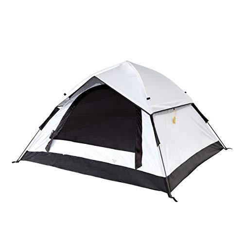 Lumaland Outdoor Cool Reflective Pop Up 3 Personen Wurfzelt - 210x190x110 cm - wasserdicht, licht-reflektierende Technoligie, optimale Temperatur - Sekundenzelt, Camping Zelt - mit Tragetasche