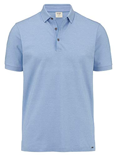 OLYMP Herren Polo Shirt Kurzarm Level Five Casual Polo,Einfarbig,Body fit,Blau 15,M