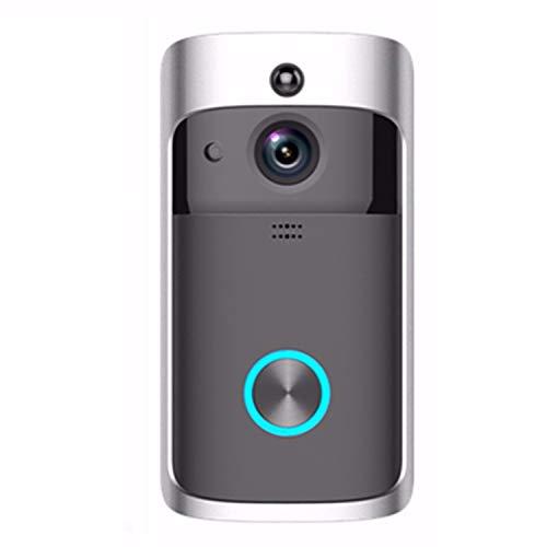 TONG Smart Doorbell Camera, WiFi Wireless Call Intercom Video-Eye, Apartments Door Bell Ring, Phone Home Security Cameras Black