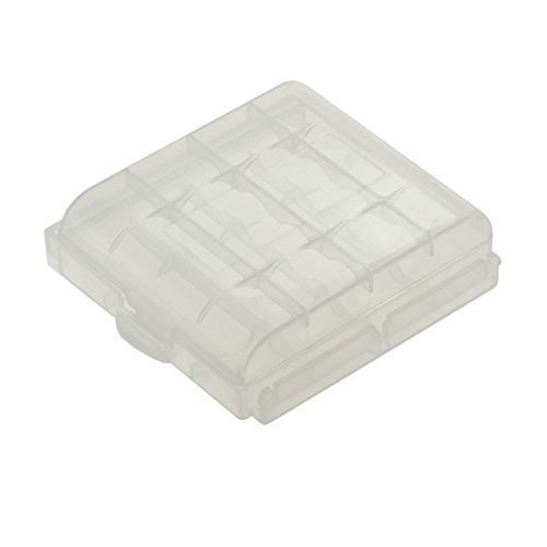 Caja para almacenaje 4 AAA o de 4 AA baterías/Pilas