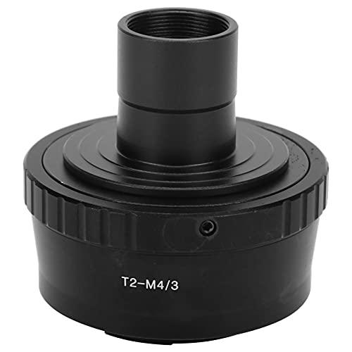 Zunate Adaptador T, microscopio biológico de 23,2 mm Tubo de extensión de Montaje en T Anillo Adaptador de Montaje T2 para cámara para Olympus M4 / 3in, Adaptador de Lente de Interfaz M42x0,75