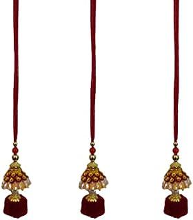 AROOM Kundan Meena bhabhi Rakhi Sister in law Bhabhi Lumba Rakhi chuda rakhi Raksha Bandhan Moli Bracelet Designer Rakhi f...