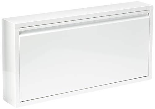 Jan Kurtz Schuhschrank, Stahlblech, Weiß, 12.5 x 75 x 37.5 cm