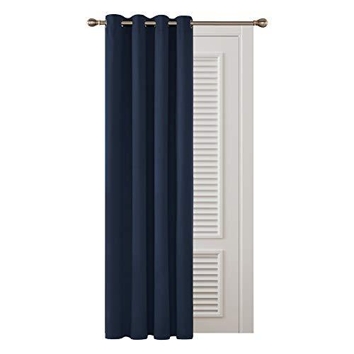Deconovo Cortinas Salon Opacas Dormitorio Moderno Suaves para Ventanas de Habitación Juvenil con Ojales 132 x 183 cm Azul Marino