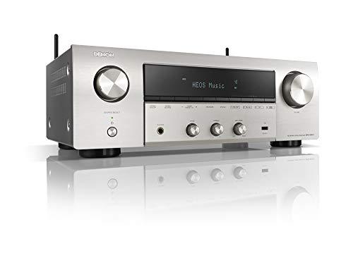 Denon DRA-800H - Receptor de Red estéreo (2 x 145 W, FM Dab+, WLAN, HDMI, Entrada de teléfono), Color Plateado
