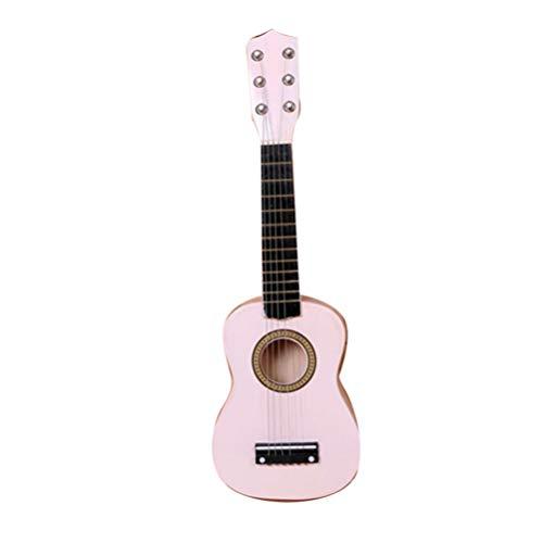 SUPVOX Ukelele Guitarra de Madera 6 Cuerdas Instrumento Musical Regalo para Niños Niños Estudiantes Principiantes 21 Pulgadas