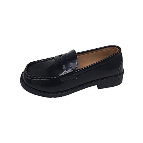 Zapatos de Cuero de Mujer con Punta Cuadrada, Mocasines Suaves Simples para Vestir, Primavera Verano, Boca Baja, Zapatos clásicos al Aire Libre