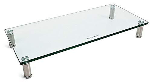 "Monoprice Multimedia Desktop Stand 22"" x 9.5"" - Monitor Riser, Laptop Stand, Desktop TV Stand, PC Riser w/ Height Adjustable Legs"