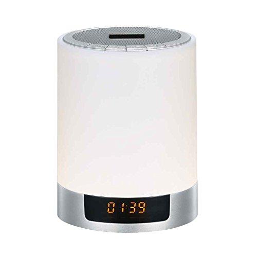 Mini Wireless Bluetooth Speaker LED Night Lights Color Changing met wekker Stereo MP3-speler Kids Bedroom